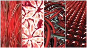 Red collage Stock Images