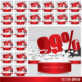 Red collection discount Royalty Free Stock Image
