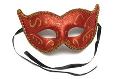 A red colombina theater half face mask Stock Images