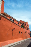 Red Colonial Architecture in Colombia Royalty Free Stock Photography