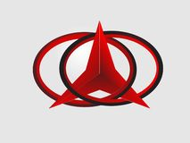 Red color abstract art logo royalty free illustration