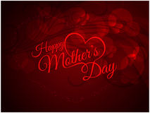 Red color background design for Mother's day Royalty Free Stock Images