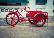 Red color bicycle Stock Photography