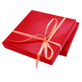 Red color box for chocolate candy Royalty Free Stock Photo