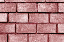 Red color brick wall pattern. Royalty Free Stock Photos
