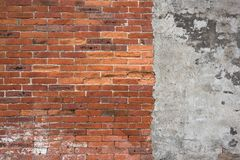 Red color bricks stock image