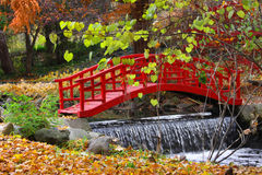 Red color bridge Royalty Free Stock Photo