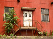 Red color building Stock Images