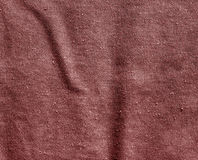 Red color cotton canvas pattern. Royalty Free Stock Photo