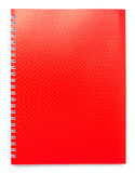 Red color cover note book Stock Photo