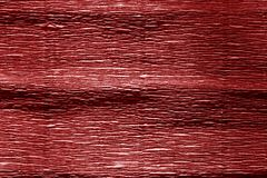 Red color crepe paper. stock image