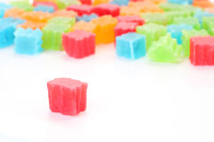 Red color crispy jelly Royalty Free Stock Photo