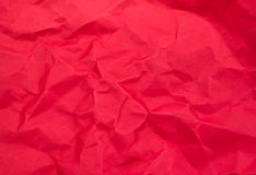 Red color crumpled paper texture background Royalty Free Stock Photography