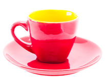 Red Color Cup Stock Image