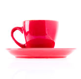 Red Color Cup Royalty Free Stock Photos