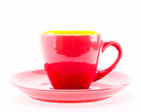 Red Color Cup Stock Photography