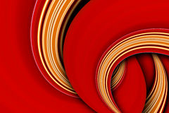 Red color curve scene Royalty Free Stock Image