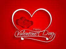 Red color elegant card design for valentine's day. Stock Images