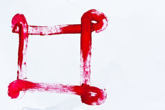 Red color hand paint on paper. Background Royalty Free Stock Photography