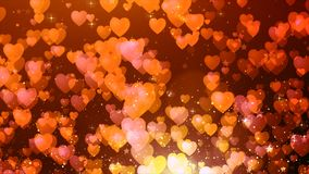 Red color heart shape flow background Stock Photography