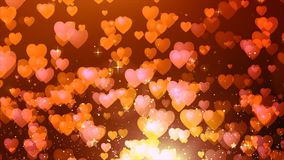 Red color heart shape flow background Stock Images