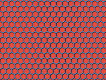 Red color Honeycomb Pattern Background stock photo