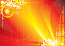 Red color infinity Stock Images