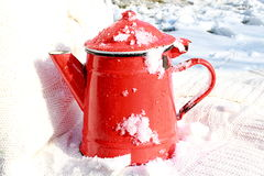 Red color kettle Stock Photos