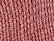 Red color knitting texture. Stock Images