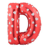 Red color letter D made of inflatable balloon Royalty Free Stock Photos