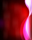 Red color lines. On a red background Stock Photos