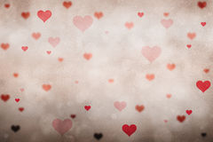 Red color love heart symbol background Royalty Free Stock Photos