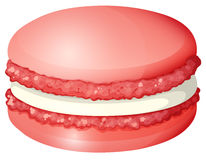 Red color macaron alone. Illustration Royalty Free Stock Photos