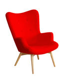 Red color modern chair isolated Royalty Free Stock Image