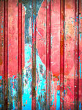 Red Color paint on metal wall Stock Images