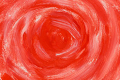 Red color paint texture. Red color paint brush strokes on the paper texture background stock photography