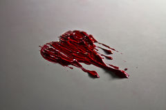Red color painted melting heart Stock Image