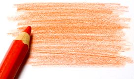 Red color pencil with coloring Royalty Free Stock Photos