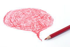 Red color pencil Royalty Free Stock Photo