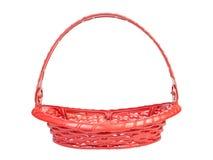 Red color plastic basket Stock Image