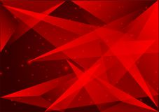 Red color polygon abstract background modern design, Vector illustration.  Royalty Free Stock Photos