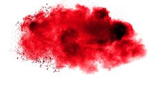 Red Color powder splash cloud Stock Photos