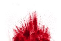 Red Color powder splash Stock Photography