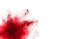 Red Color powder splash Royalty Free Stock Image
