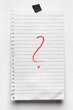Red color question mark symbol Stock Photo