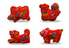 Red color se 4 twelve zodiacs royalty free stock image