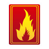 Red color signal silhouette fire flame icon. Illustration Stock Image