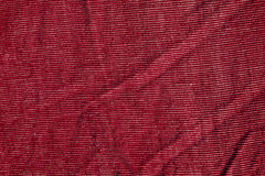 Red color textile texture. Stock Photo