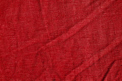 Red color textile texture. Stock Photography