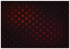 Red Color of Thai Vintage Wallpaper Pattern Background Stock Photography